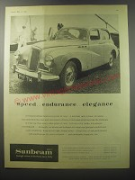1955 Sunbeam Mark III Car Ad - Speed.. endurance.. Elegance