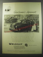1955 Wolseley Four-Fortyfour and Six-Ninety Cars Ad - Gentlemen's agreement