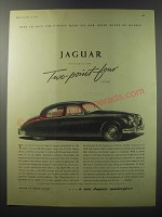 1955 Jaguar Two-point-Four Litre Car Ad - Here to join the famous Mark VII