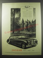 1955 Jaguar Car Ad - Background to Jaguar breeding SPA