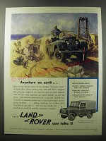 1955 Land Rover 86 Wheelbase Standard Model Truck Ad - Anywhere on earth