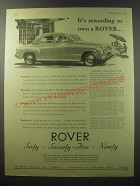 1955 Rover Cars Advertisement - It's rewarding to own a Rover