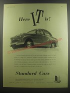 1955 Standard Cars Ad - Here It is