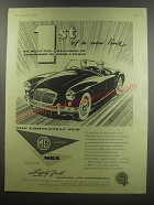 1955 MG MGA Ad - 1st of a new line