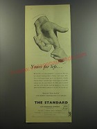 1955 The Standard Life Assurance Ad - Yours for life