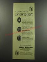1955 Abbey National Building society Ad - Safety-first investment