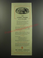 1955 The London Assurance Ad - The London Omnibus serves the public