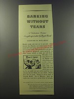 1955 Lloyds Bank Ad - Banking without tears