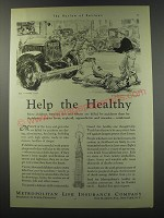 1930 Metropolitan Life Insurance Ad - Help the Healthy