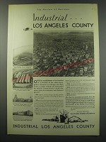 1930 Los Angeles Chamber of Commerce Ad - Industrial.. Los Angeles County