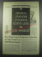 1930 Bureau of Power and Light City of Los Angeles Ad - Industrial Los Angeles