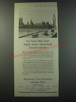 1930 Guaranty Trust Company of New York Ad - For those who own English Assets