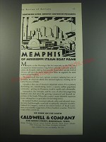 1930 Caldwell & Company Bank Ad - Memphis of Mississippi steam boat fame