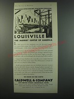 1930 Caldwell & Company Bank Ad - Louisville the market center of America