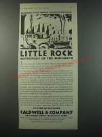 1930 Caldwell & Company Bank Ad - Little Rock Metropolis of the mid-south