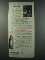 1930 Postal Life Insurance Ad - Bettering your investment