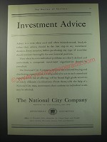 1930 The National City company Ad - Investment Advice