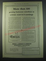 1930 Henry L. Doherty & Company Ad - More than 100 growing businesses