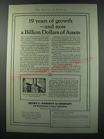 1930 Henry L. Doherty & Company Ad - 19 years of growth
