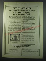 1930 Henry L. Doherty & Company Ad - Cities Service pays monthly dividends