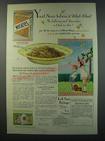 1930 Wheaties Cereal Ad - You'd never believe it whole wheat so alluring