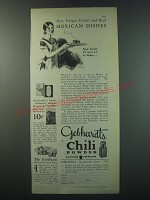 1930 Gebhardt's Chili Powder Ad - New, Unique salads and real Mexican Dishes
