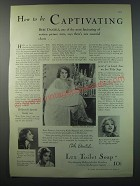 1930 Lux Toilet Soap Ad - Bebe Daniels - how to be captivating
