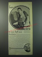 1930 S.C. Johnson Liquid Wax Ad - Free 25¢ can of Johnson's liquid wax to save
