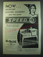 1930 Hotpoint Automatic Electric Range Advertisement