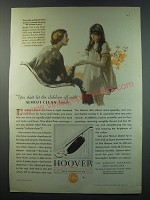 1930 Hoover Model 725 Vacuum Cleaner Ad - You don't let the children off