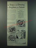 1930 Colman's Mustard Ad - recipe for Boiled Dressing