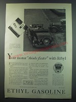 1930 Ethyl Gasoline Ad - Your motor thinks faster with Ethyl