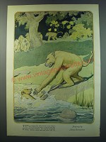 1930 Illustration from a magazine by James Swimmerton - There is nothing