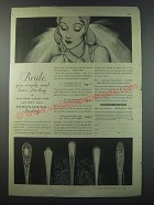 1930 International Sterling Advertisement - Fontaine, Minuet, Orchid, Pine