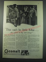 1930 Cocomalt Drink Ad - This can't be little Edna