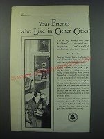 1930 Bell Telephone Ad - Your friends who live in other cities