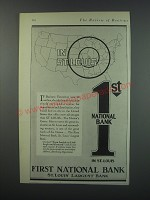 1930 First National Bank Ad - In St. Louis