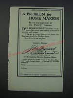 1930 John Hancock Mutual Life Insurance Company Ad - A Problem for Home Makers