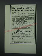 1930 John Hancock Mutual Life Insurance Company Ad - How much should I lay