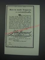1930 John Hancock Mutual Life Insurance Company Ad - How to make bequests