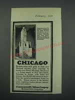 1930 Commonwealth Edison Company Ad - Chicago