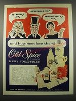 1957 Old Spice Men's Toiletries Ad - Illegal? No! Immoral? No! Irresistible?