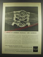 1957 Reed Paper Group Ad - Theme for profitable business - with variations