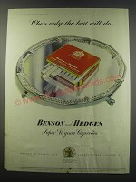 1957 Benson and Hedges Cigarettes Advertisement
