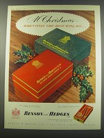 1957 Benson and Hedges Cigarettes Ad - At Christmas when only the best will do