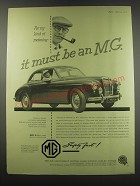 1957 MG Magnette Advertisement - For my kind of motoring - it must be an M.G.