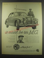 1957 MG Magnette Ad - For my kind of motoring - it must be an M.G.
