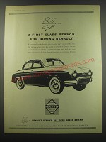 1957 Renault Dauphine Ad - A first class reason for buying Renault