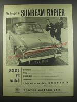 1957 Sunbeam Rapier Ad - We bought a Sunbeam Rapier
