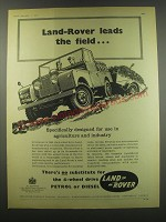 1957 Land Rover Truck Ad - Land Rover Leads the field.. Specifically designed
